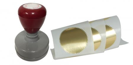 Notary Seal Extras - Seal Impression Inker and Gold Seals