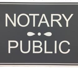 Gray Notary Public Sign, New York