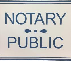 White Notary Public Sign, Indiana