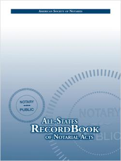 ASN All-States Notary Recordbook (REQUIRED), California